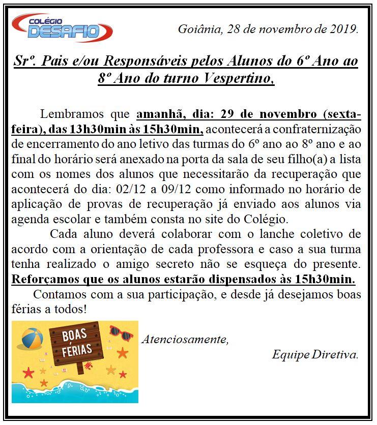 28-11 Confraternização Vespertino
